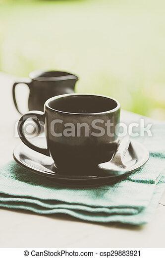 Black coffee cup - csp29883921