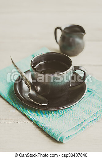 Black coffee cup - csp30407840
