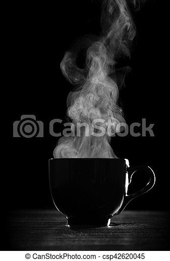 Black coffee cup - csp42620045