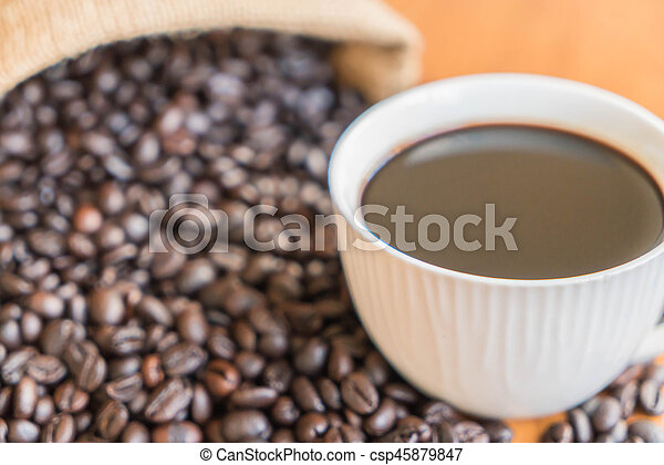 black coffee cup - csp45879847