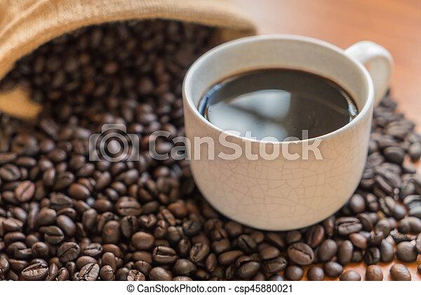 black coffee cup - csp45880021