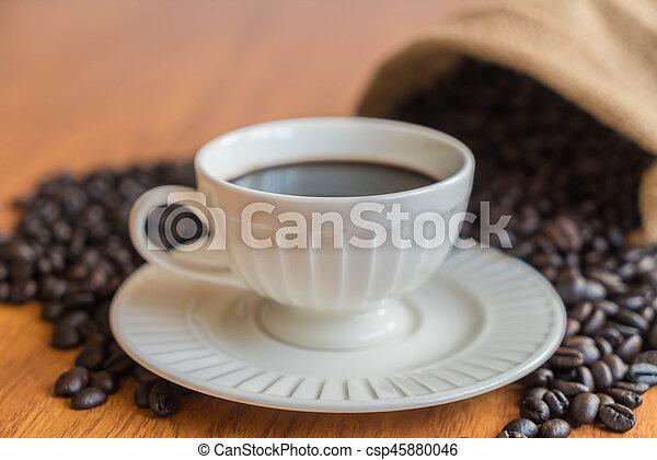 black coffee cup - csp45880046