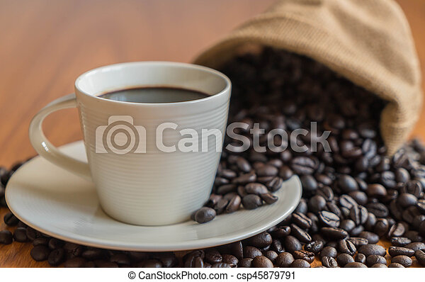black coffee cup - csp45879791