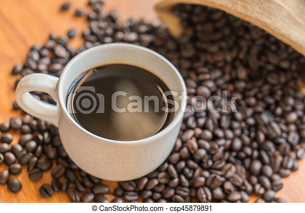 black coffee cup - csp45879891