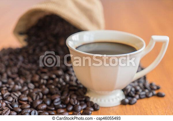 black coffee cup - csp46055493