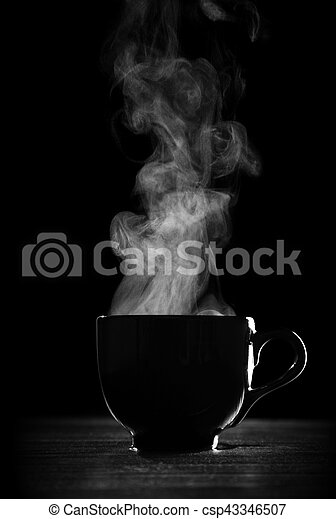 Black coffee cup - csp43346507