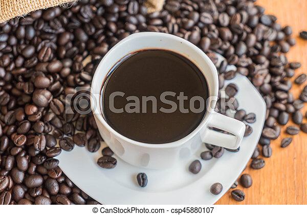black coffee cup - csp45880107