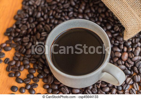 black coffee cup - csp45644133