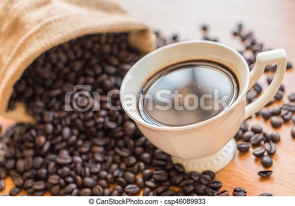 black coffee cup - csp46089933
