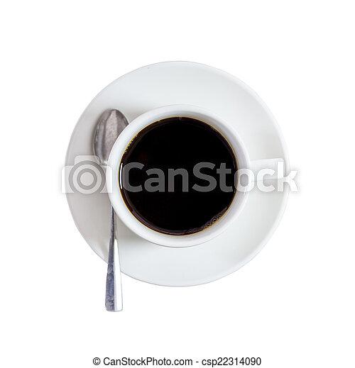 black coffee on isolated white. - csp22314090