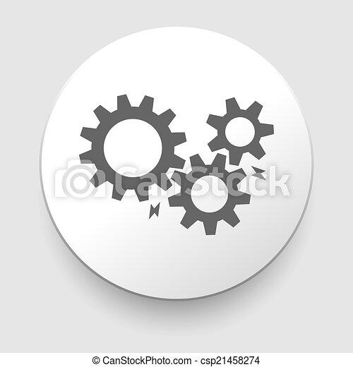 black cogs - gears on light background - csp21458274