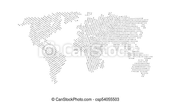 Black color world map isolated on white background abstract flat black color world map isolated on white background csp54055503 gumiabroncs Choice Image