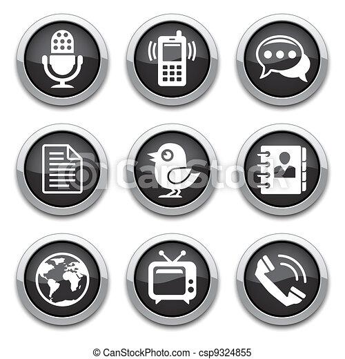 black communication buttons - csp9324855