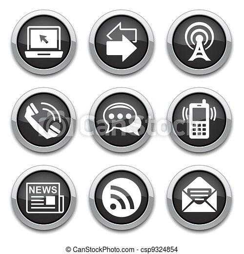 black communication buttons - csp9324854