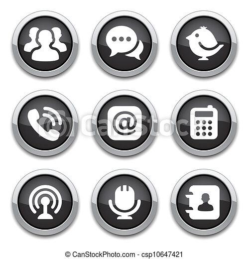 black communication buttons - csp10647421