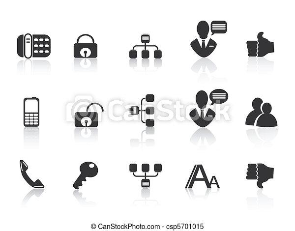 black Communication icons - csp5701015