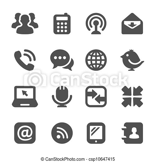 black communication icons - csp10647415