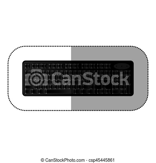 black computer keyboard icon - csp45445861