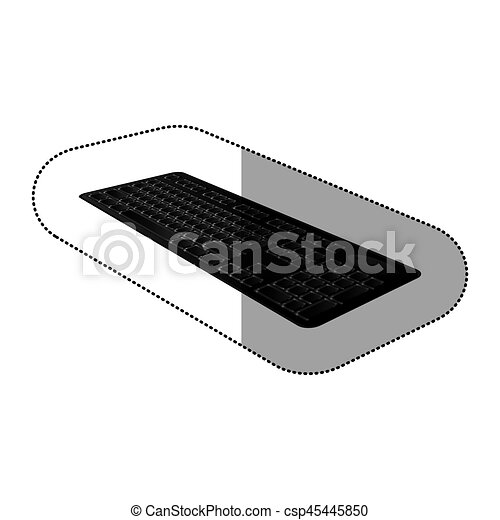 black computer keyboard icon - csp45445850