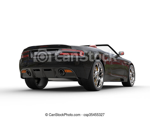 Black convertible sports car - csp35455327