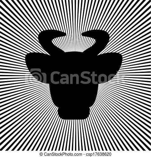 Black cow's head - csp17638620