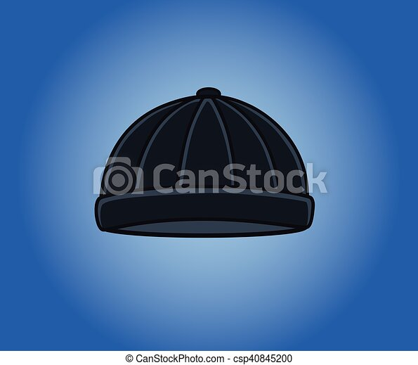 Black Criminal Cap Vector - csp40845200
