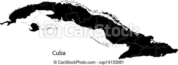 Black Cuba map - csp14133081