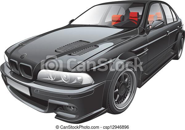 black custom car - csp12946896