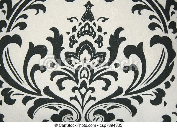 Black Damask Pattern On White Background Stock Illustrations