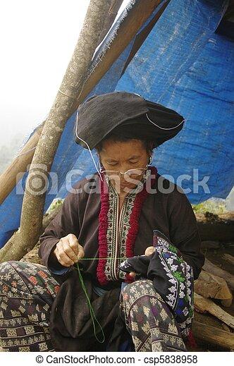 Black Dao ethnic woman - csp5838958