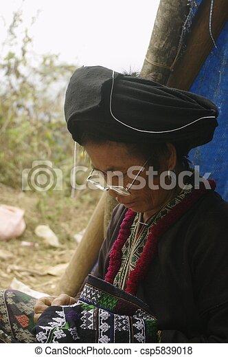 Black Dao ethnic woman - csp5839018