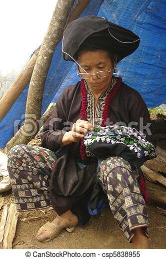 Black Dao ethnic woman - csp5838955