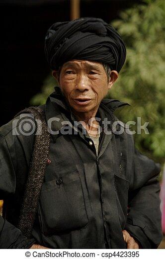 Black Dao man - csp4423395
