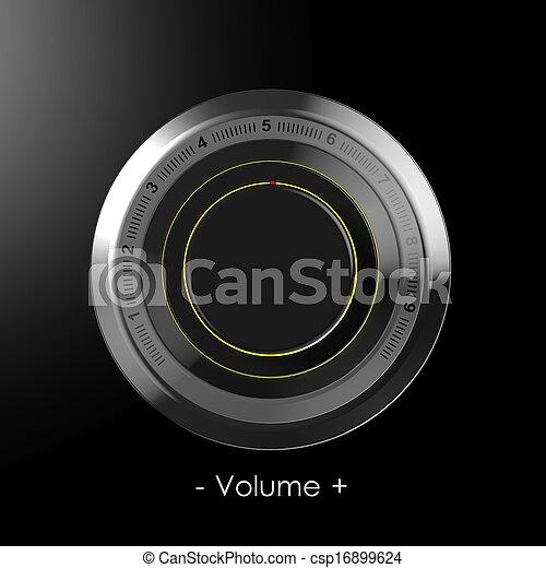 Black dial volume control  - csp16899624