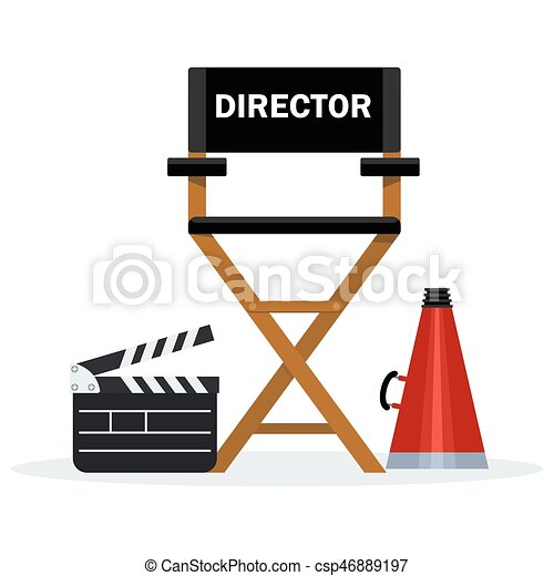 black director chair - csp46889197  sc 1 st  Can Stock Photo & black director chair