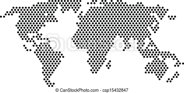 For design element black dots world map black dots world map csp15432847 gumiabroncs Image collections