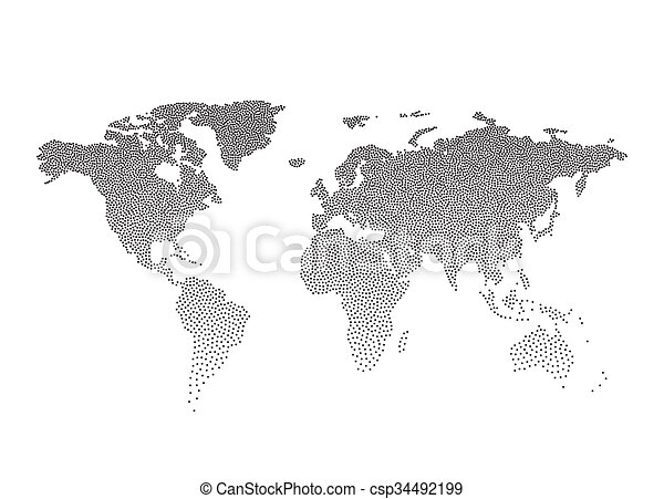 Black dotted world map vector illustration eps10 eps vectors black dotted world map vector illustration gumiabroncs Image collections