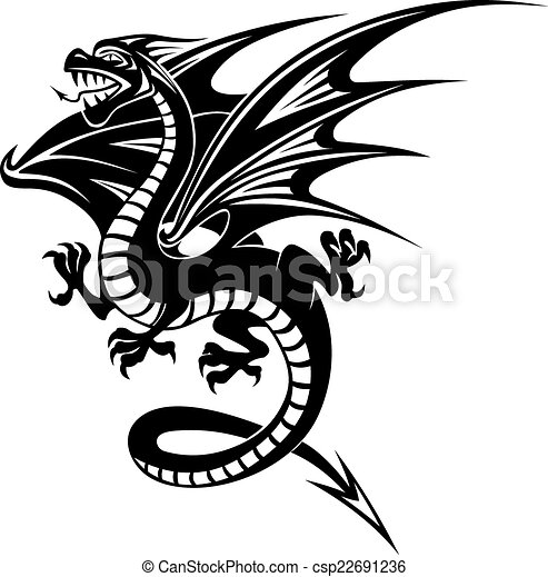 black dragon black danger dragon isolated on white vectors rh canstockphoto com dragon vector free dragon vector game