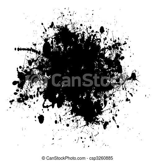 black dribble grunge - csp3260885