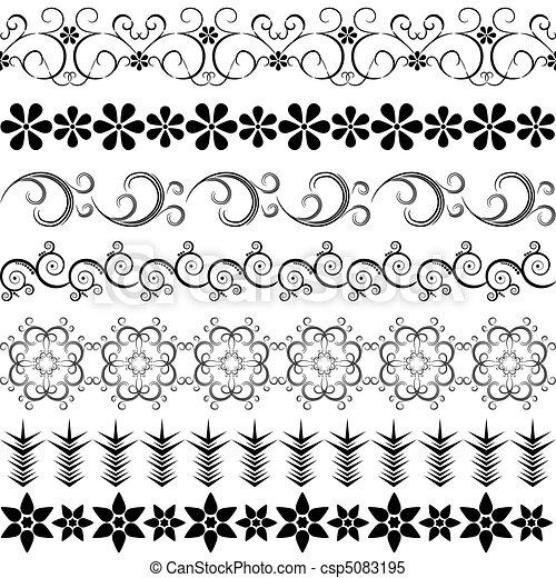 Black effortless border - csp5083195