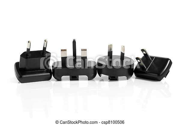 Black electrical adapters - csp8100506