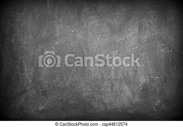 Black empty chalkboard - csp44612574