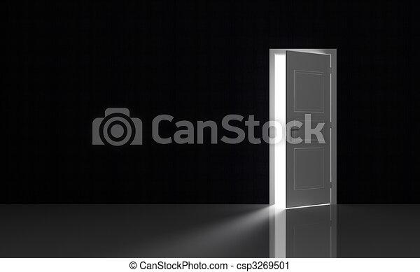 Black empty room - csp3269501