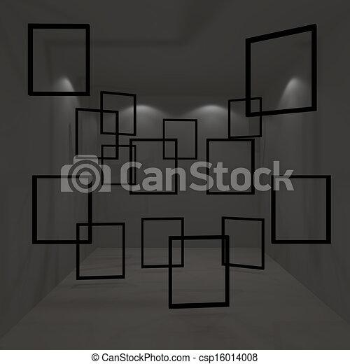 black empty room - csp16014008