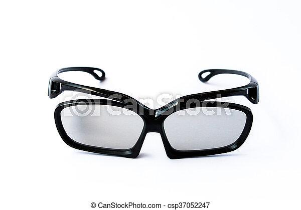 Black Eye Glasses Isolated On White Eyeglasses White Background