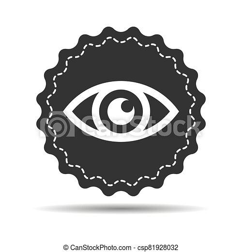 black eye icon on a white background - vector illustration - csp81928032