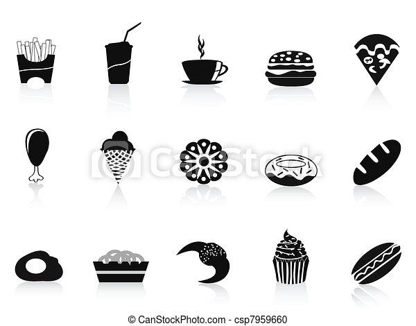 black fast food icon - csp7959660