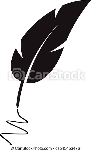 black feather vectors illustration search clipart drawings and rh canstockphoto com feather vector free feather vector art