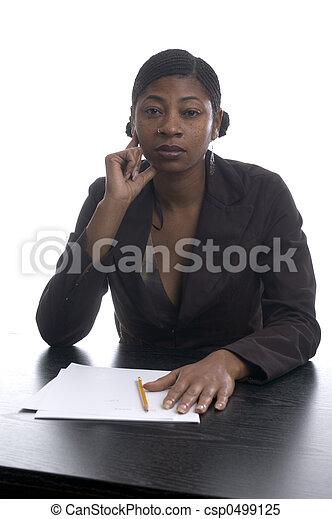 black female executive - csp0499125
