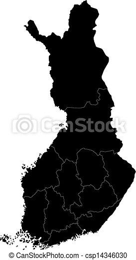 Black Finland map - csp14346030